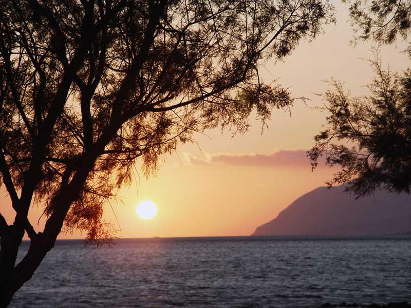 Sonnenuntergang in Kreta Ferienwohnung