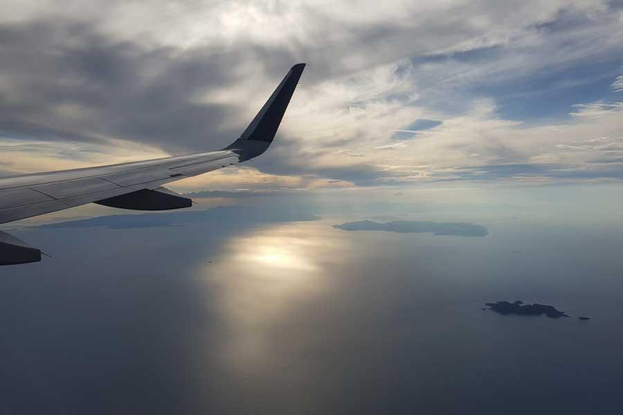 Kreta Anflug auf Chania