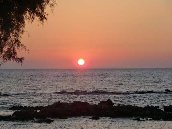 Kreta Sonnenuntergang in Sfakia