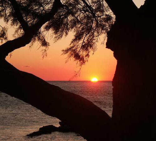 Ferienwohnung am Meer , da wurde dieser Sonnenuntergang aufgenommen